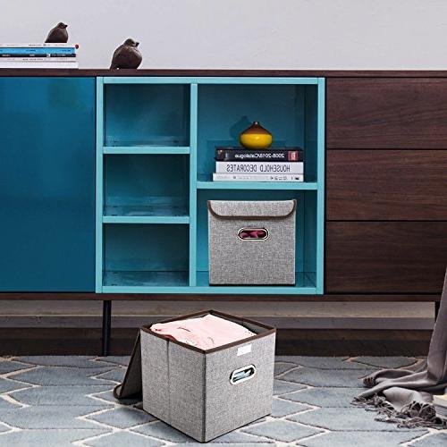 MEÉLIFE Storage Bins Storage Fabric Containers Drawers & Handle Nursery