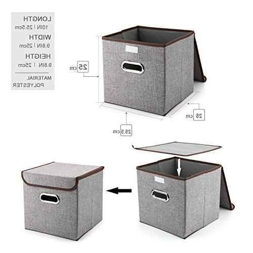 MEÉLIFE Storage Fabric Foldable Containers Drawers & Nursery Shelf Gray