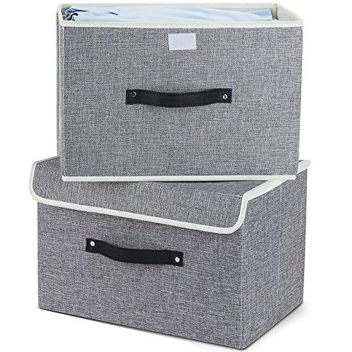 Storage Set Two Storage Box with Lids Storage Containers Cotton Drawer Removable