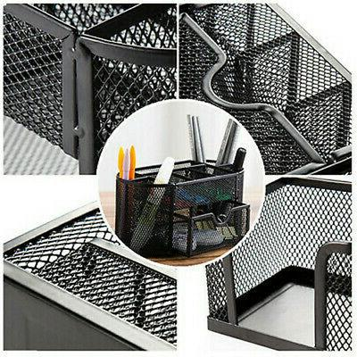 Pencil And Pen Holder Office Desk Supplies Desktop Metal Storage