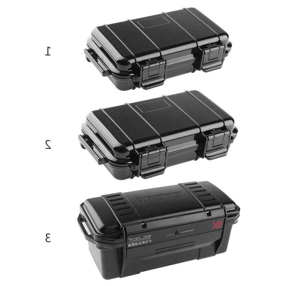 Black ABS Plastic Outdoor Shockproof Sealed Case Tool Dry Box