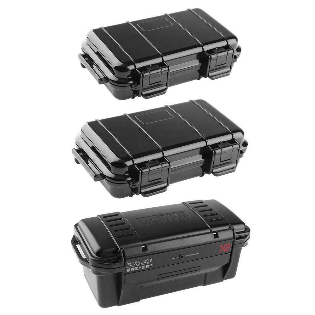 Black ABS Plastic Shockproof Sealed Waterproof Case Tool Dry