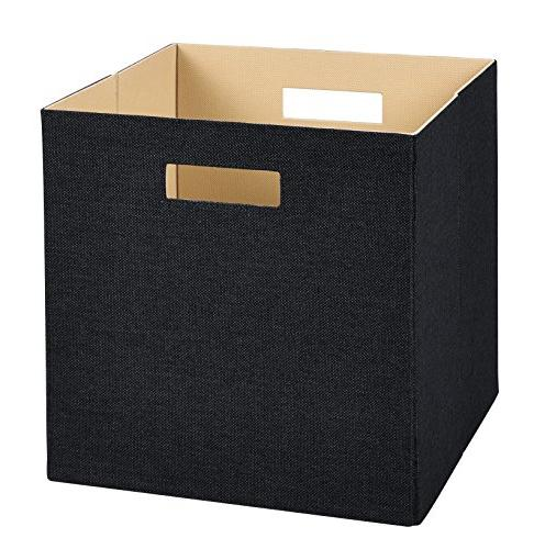 "ClosetMaid 13""x13"" Black Decorative Fabric Storage Bin Cube"