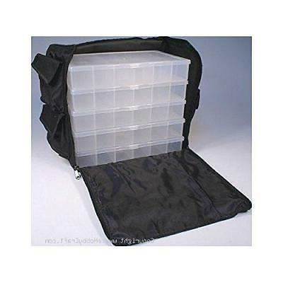 Black Nylon Bead, Sewing, Craft Supply Storage Caddy Tote wi