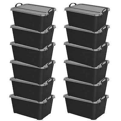 black stackable closet storage 55
