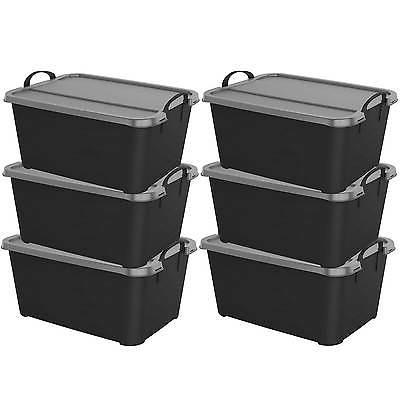 black stackable closet and storage box 55