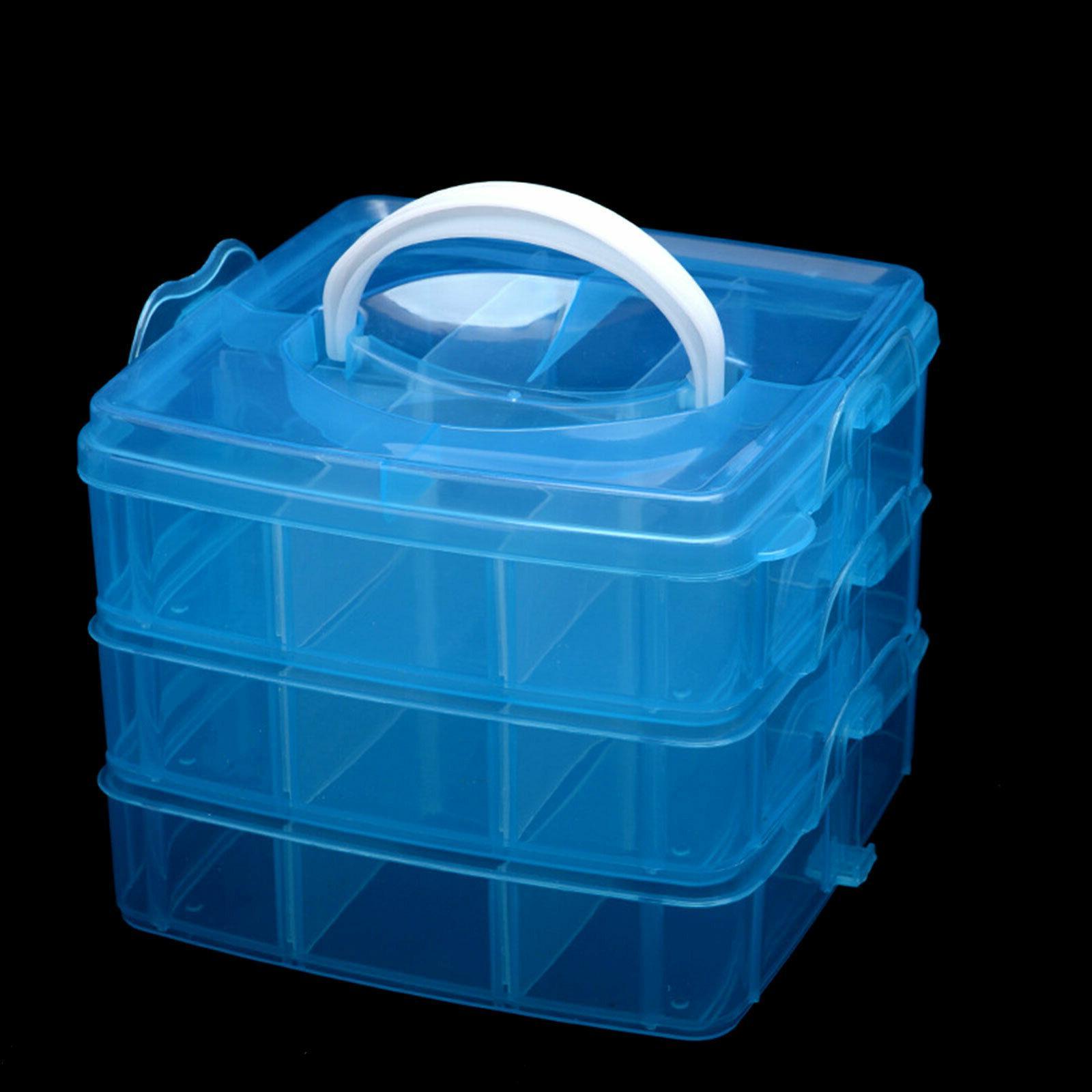 Blue Screws Jewelry Beads Box Crafts Organizer Container Case