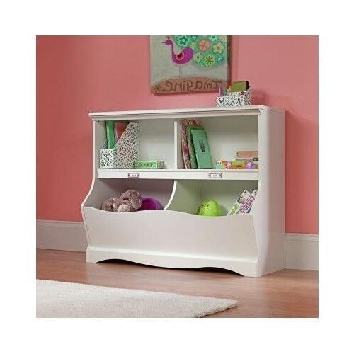 Bookcase Toy Storage Bin Kids Bedroom Nursery Furniture Shel