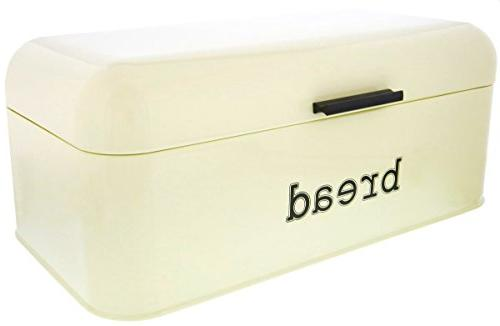 Bread for Counter - Stainless Bread Dry Storage Container Pastries, Toast and More - Vintage Design,