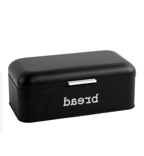 bread box for kitchen counter stainless steel