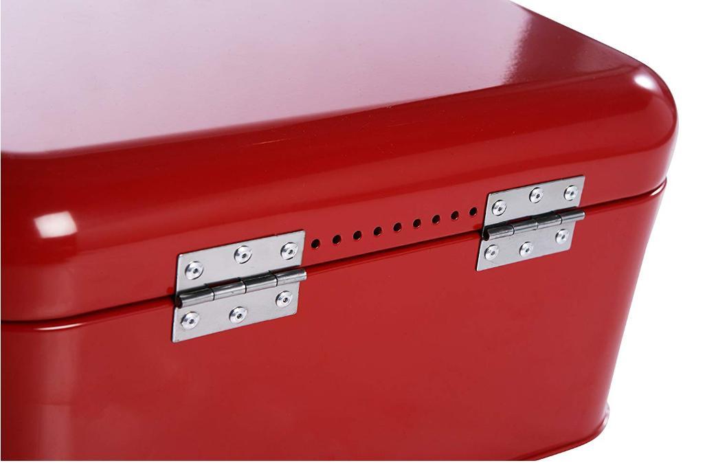 Bread Box Red Large Bin Kitchen Counter Organizer Storage Retro