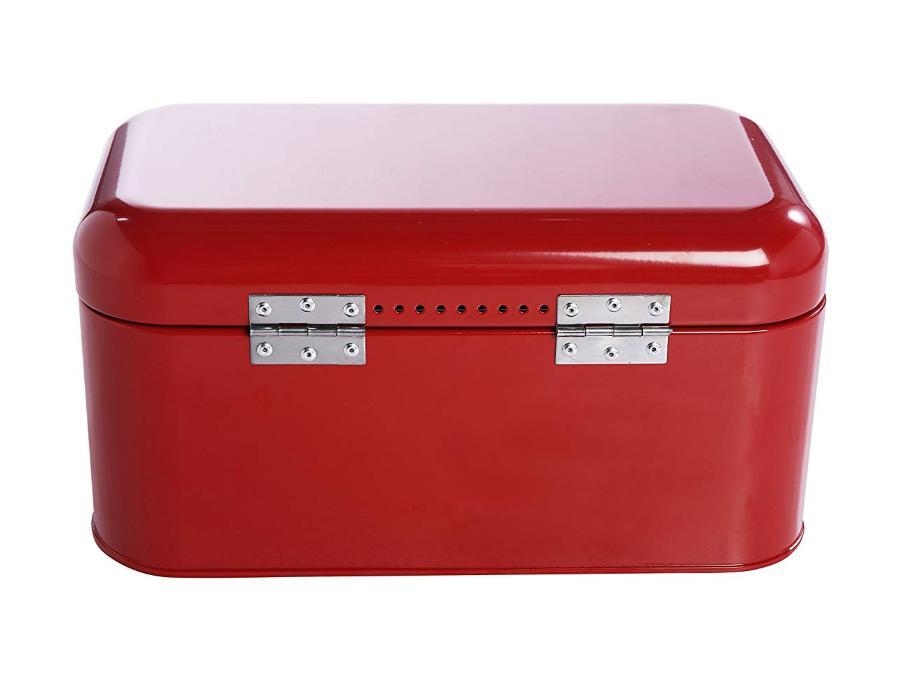 Bread Red Large Juvale Counter Storage Retro