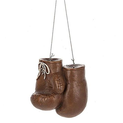 brown boxing gloves resin ornament