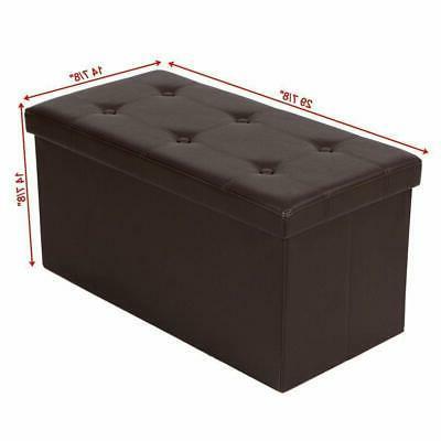 Brown Bench Storage Lounge Footstools