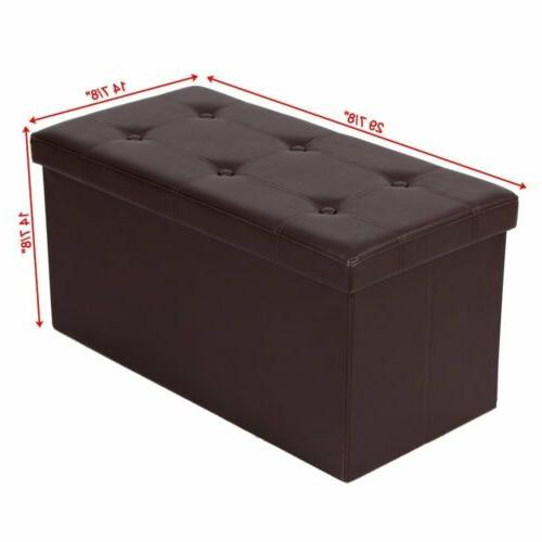 Brown Ottoman Bench Pouffe Box Lounge Seat Footstools