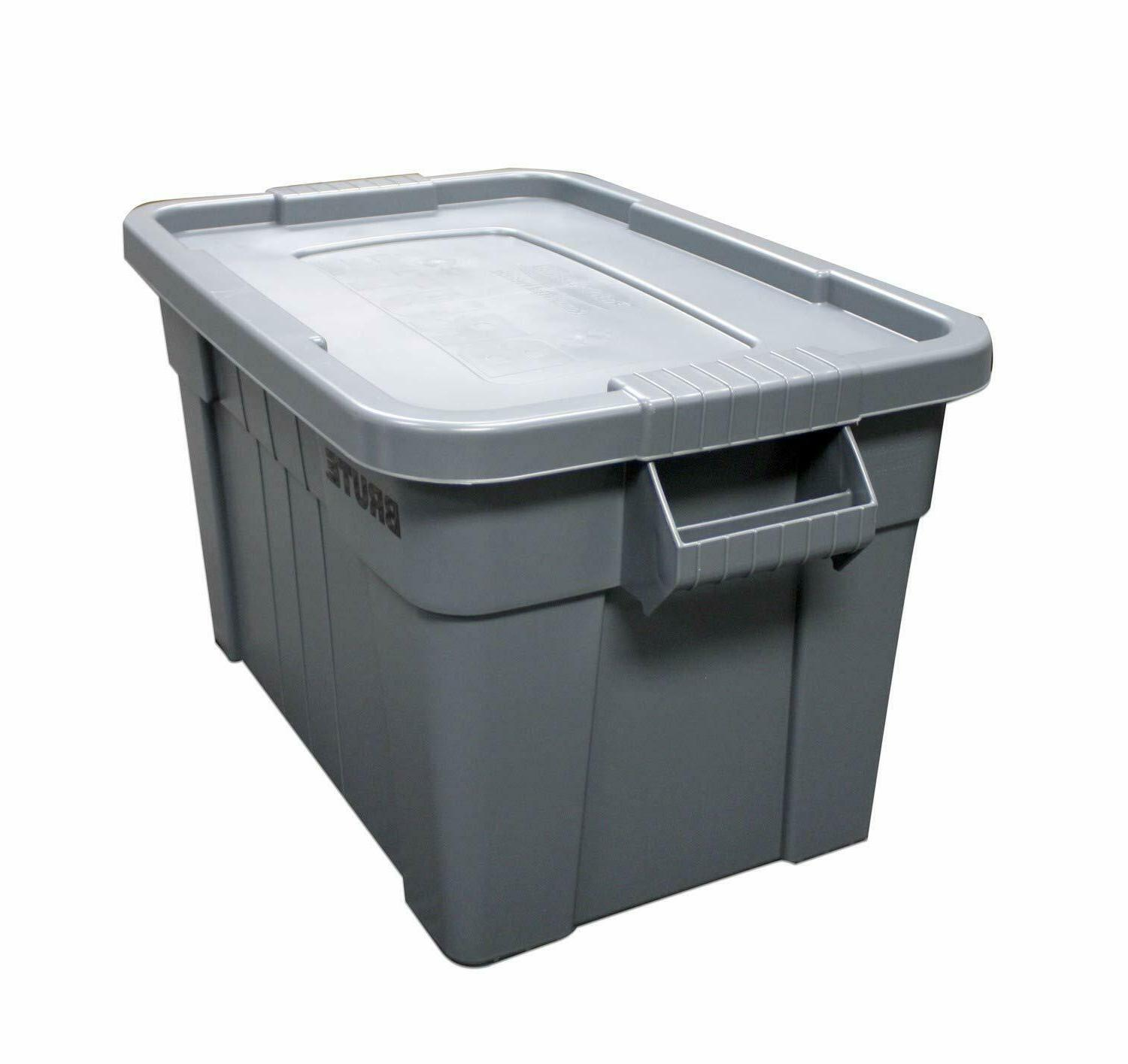 Rubbermaid Products Tote with Lid, 20-Gallon,