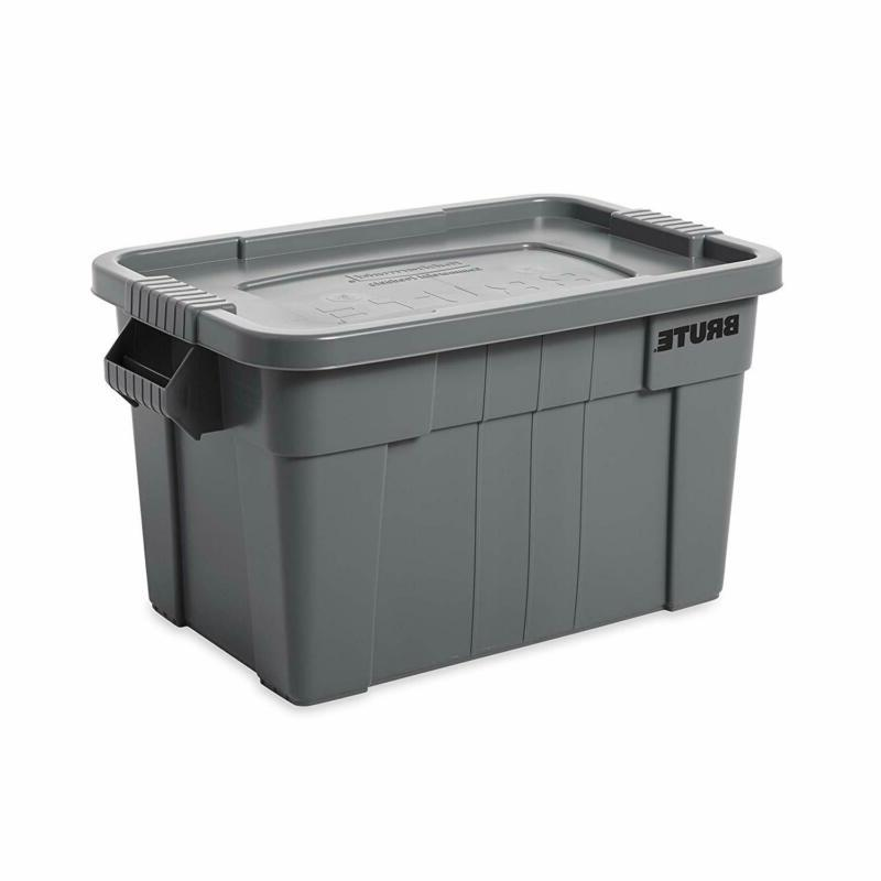 brute tote storage container with lid 20gallon