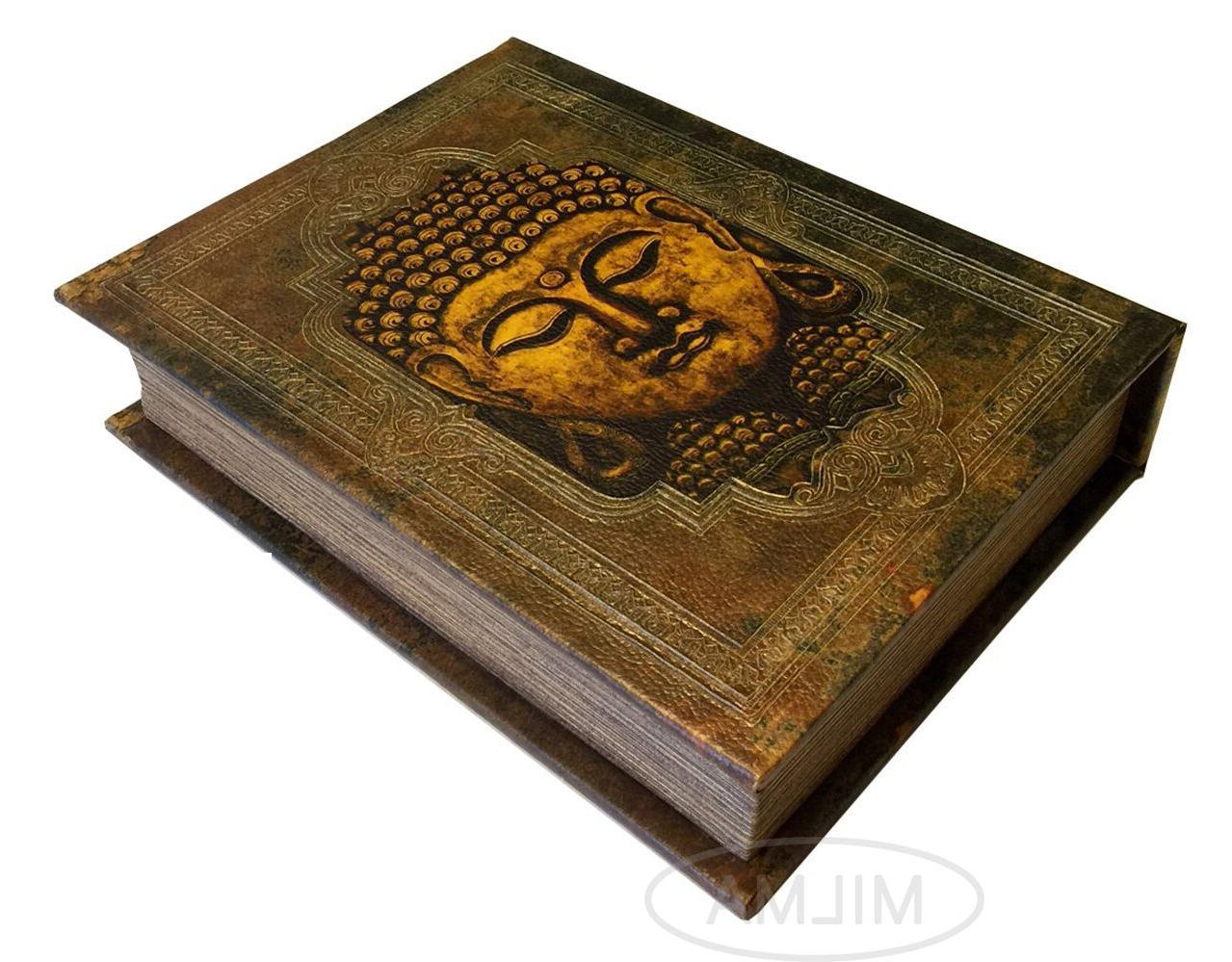 Buddha Book Box Decorative Leather Book Box Storage Secret B