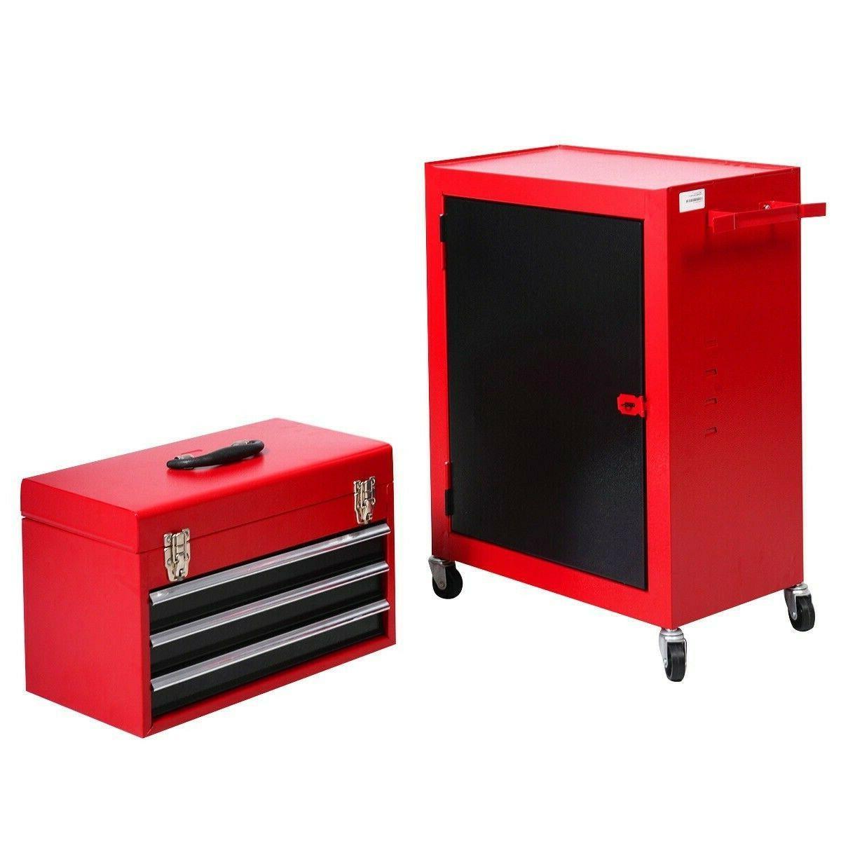Cabinet Storage piece Mini and Rolling Garage Organizer