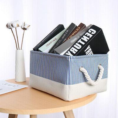 Canvas Baskets Bins Toy Organizer