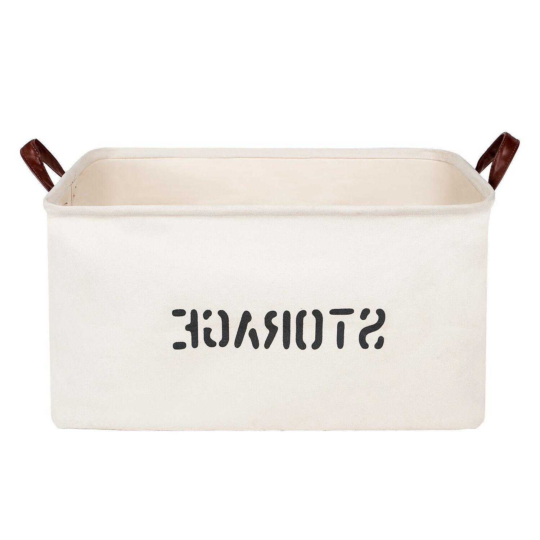 Canvas Storage Baskets Bins Stationery Toys Nursery Sundries