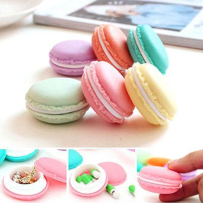 Charm Candy Color Macaron Mini Storage Box Jewelry Box Pill