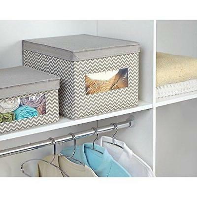 InterDesign Chevron Fabric Organizer Box Storage