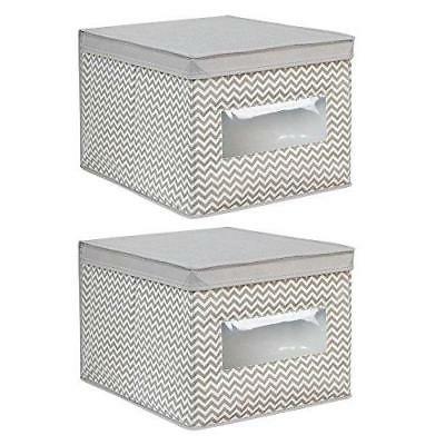 chevron fabric closet organizer box soft storage