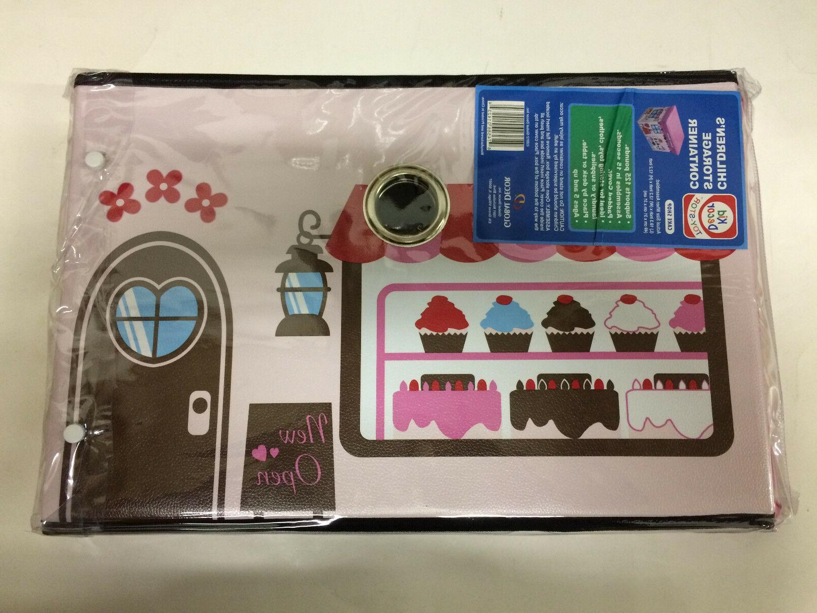 children s storage container stool cake shop