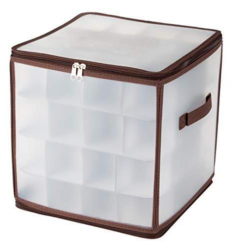christmas ornament storage box 64 slots square