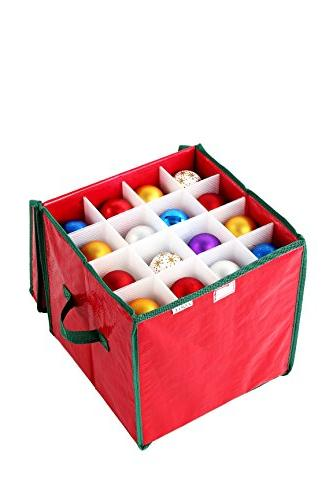 Juvale Container with Holiday Cube Ornament - Holds Ornaments - 12 x x 12