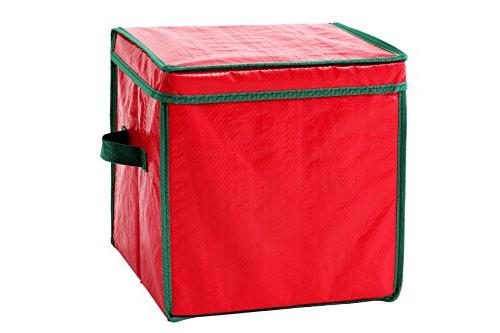 christmas ornament storage container with dividers holiday