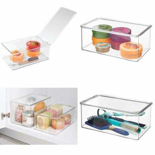 clarity plastic storage box w lid organizer