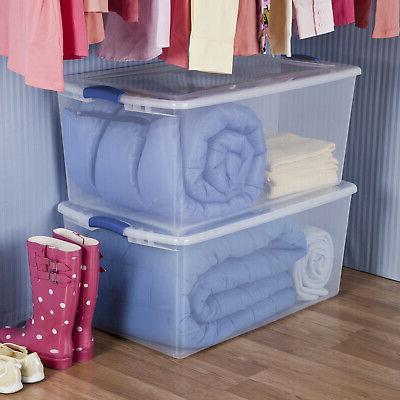 Sterilite 105 Quart Latch Box- Stadium Blue
