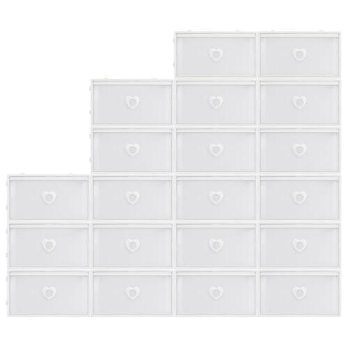 Clear Drawer Shoe Box Storage Stackable Foldable Wardrobe Case