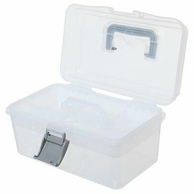 MyGift Clear First Arts Craft Supply Case/Storage