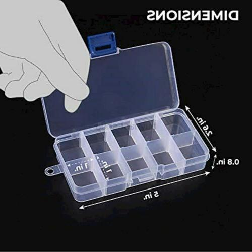 Juvale Clear Jewelry Box - Storage Container,