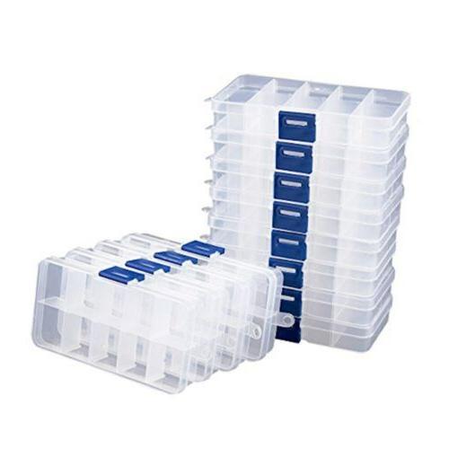 clear jewelry box 12 pack plastic bead