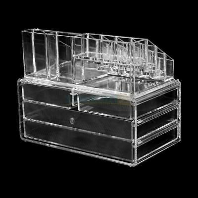 Clear Jewelry Organizer 4 Case Storage Holder
