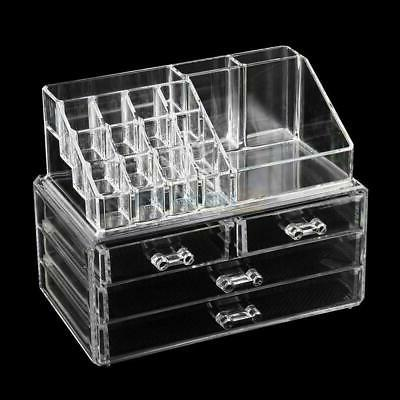 Clear Jewelry 4 Drawer Makeup