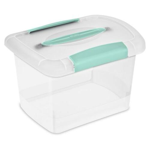 clear nesting showoffs box with handle
