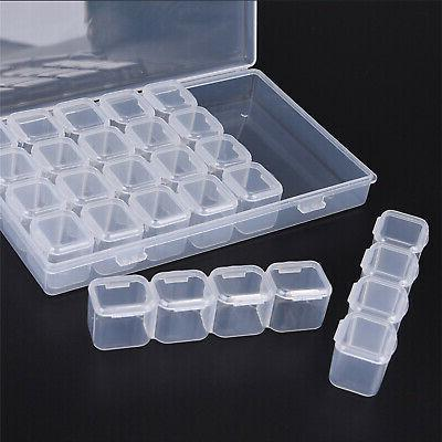 Clear 28 Slots Case