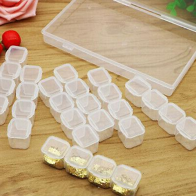 Clear 28 Adjustable Jewelry Case Craft Beads