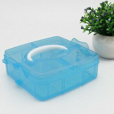 Clear Storage Box Container 3-Layers Case