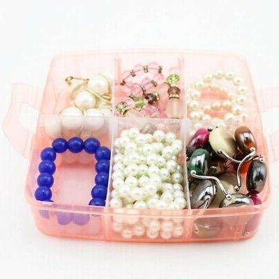Clear Jewelry Storage Container 3-Layers Craft