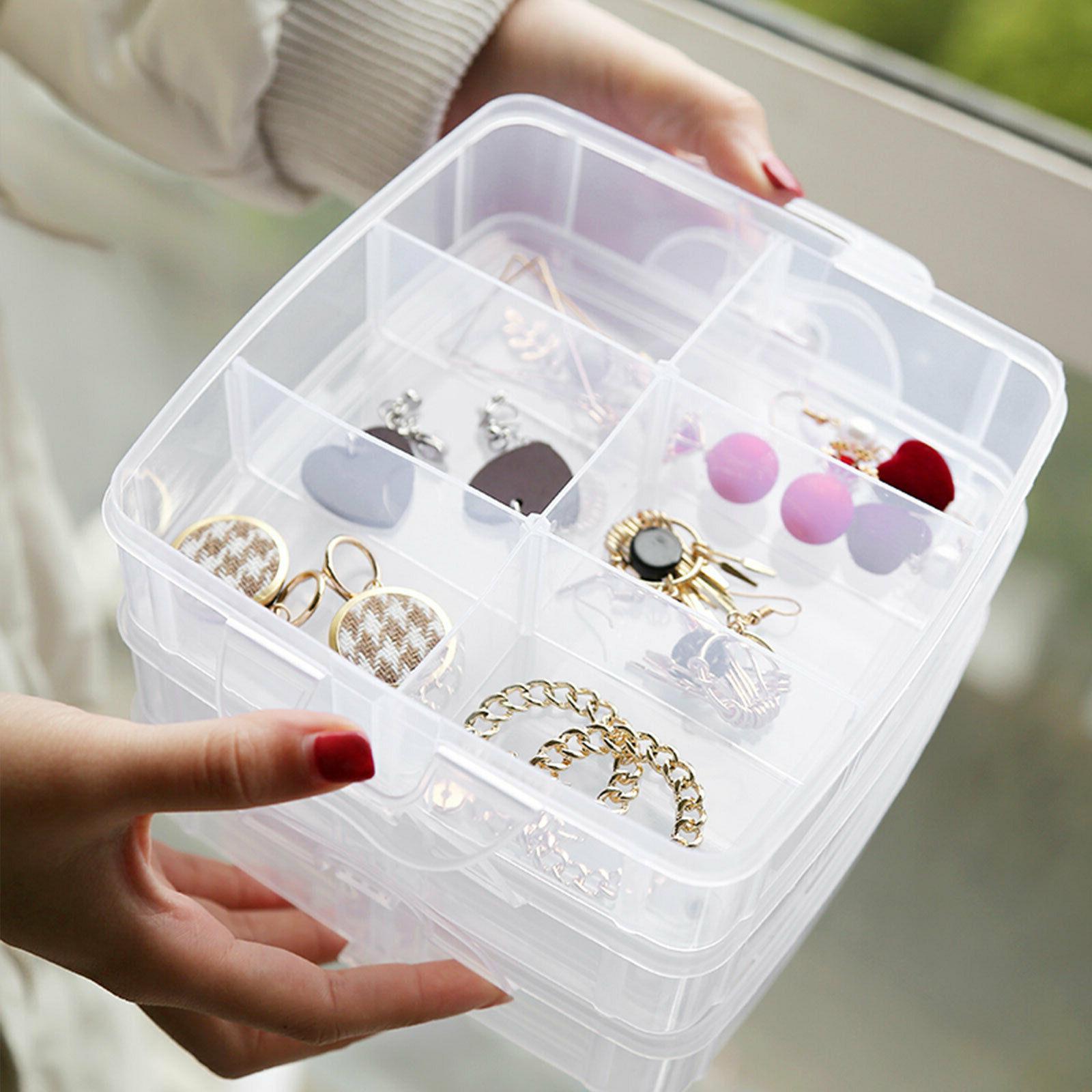 Blue Beads Storage Crafts Organizer Container