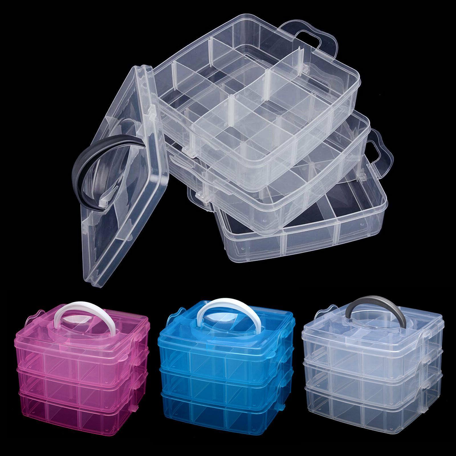 blue plastic screws jewelry beads storage box