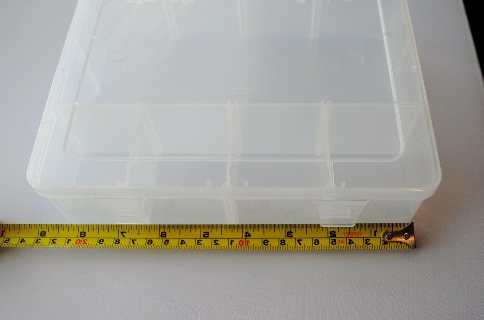 Clear Plastic Storage Box Car Organizer