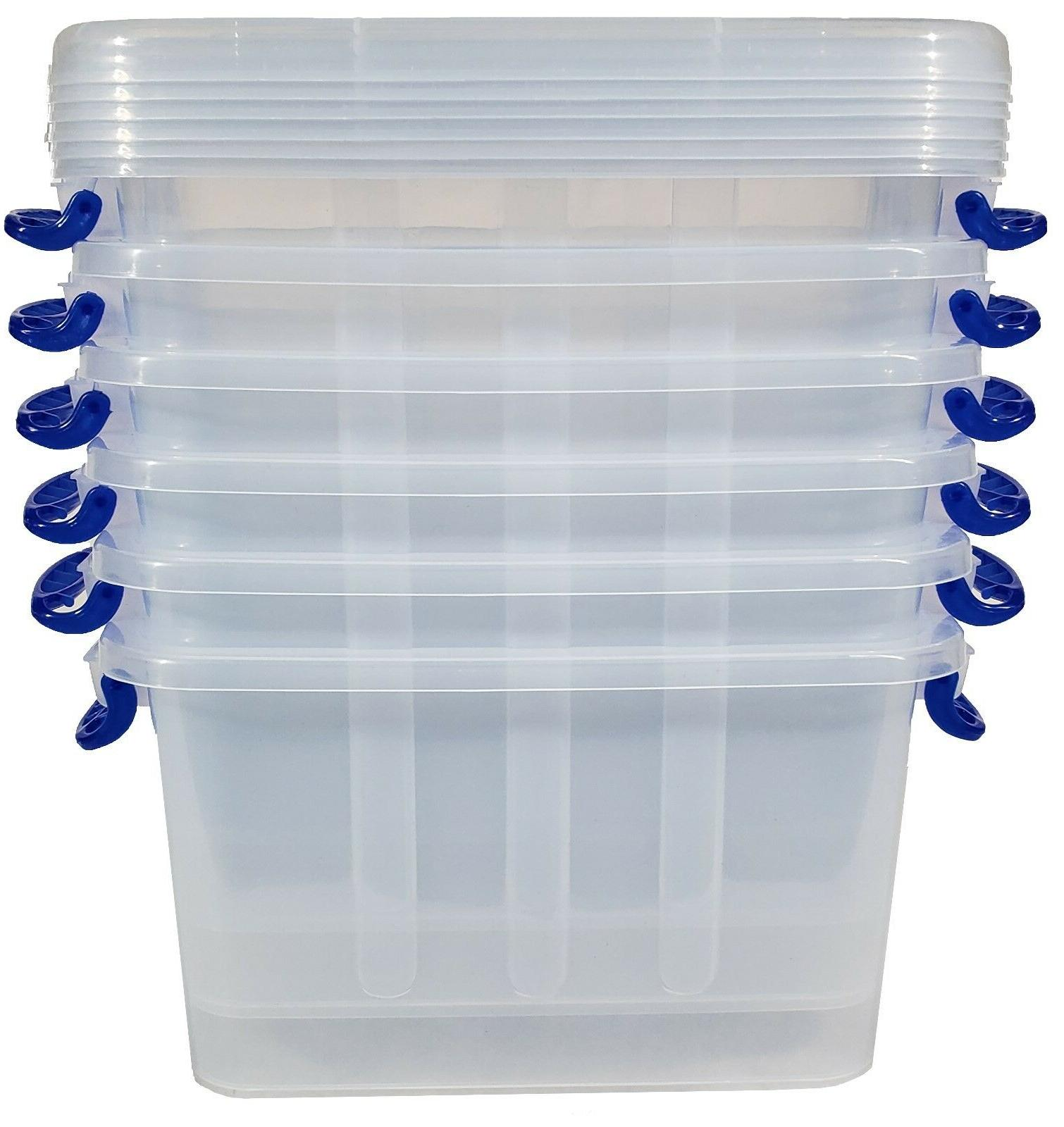 Arteezt Clear Bin - Locking Lid and Storage Box