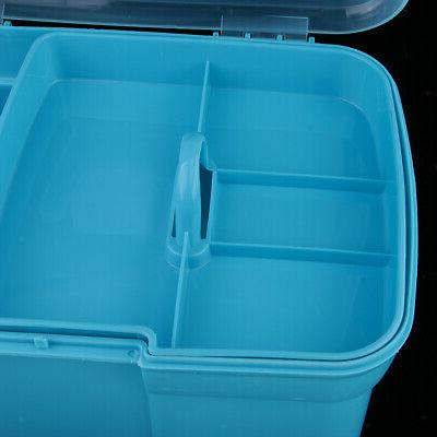 Clear Plastic Storage Box Case for Craft